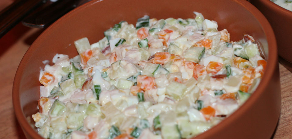 Салат провансаль из говядины рецепт с