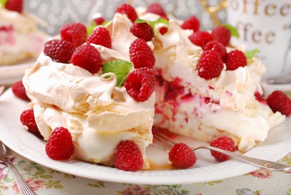 пирог малинный